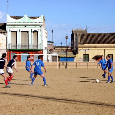 A football match in Cabañal