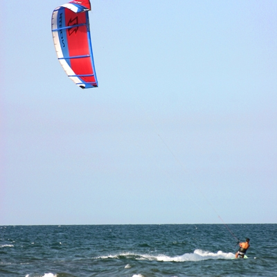 Wind surfer at Malvarrosa beach